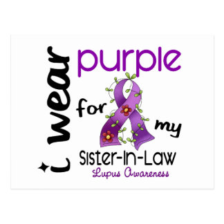 Lupus I WEAR PURPLE FOR MY SISTER-IN-LAW 43 Postcard