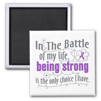 Lupus In The Battle 2 Inch Square Magnet