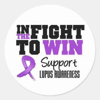 Lupus In The Fight To Win Sticker