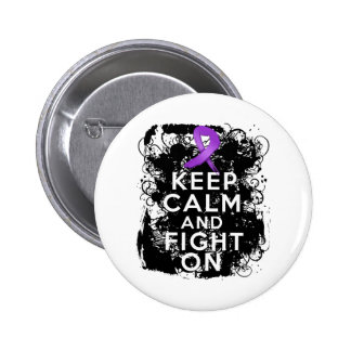 Lupus Keep Calm and Fight On Pinback Button