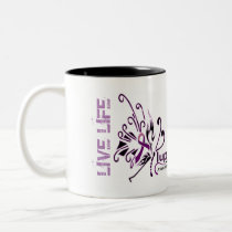 #LUPUS Live Life and Survive...! Two-Tone Coffee Mug