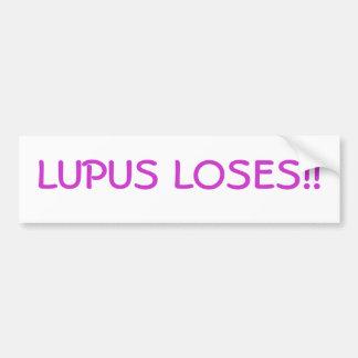 Lupus Loses!! Bumper Sticker Car Bumper Sticker