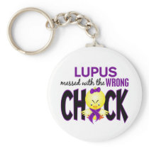 Lupus Messed With The Wrong Chick Keychain