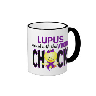 Lupus Messed With The Wrong Chick Ringer Coffee Mug
