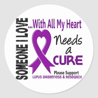 Lupus Needs A Cure 3 Round Stickers
