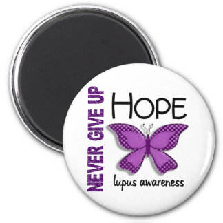 Lupus Never Give Up Hope Butterfly 4.1 2 Inch Round Magnet