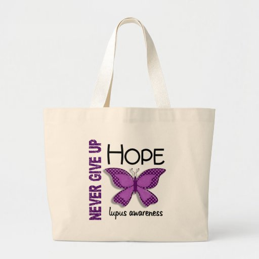 Lupus Never Give Up Hope Butterfly 4.1 Bag