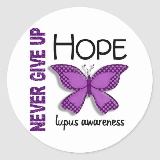 Lupus Never Give Up Hope Butterfly 4.1 Classic Round Sticker