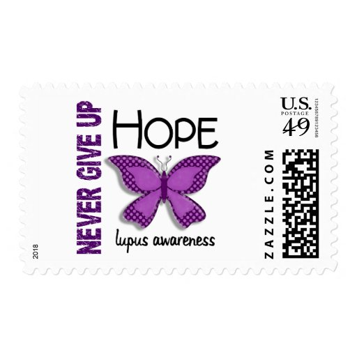 Lupus Never Give Up Hope Butterfly 4.1 Postage Stamps