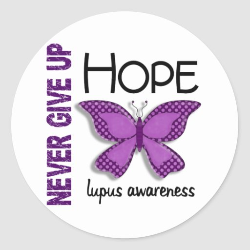 Lupus Never Give Up Hope Butterfly 4.1 Stickers