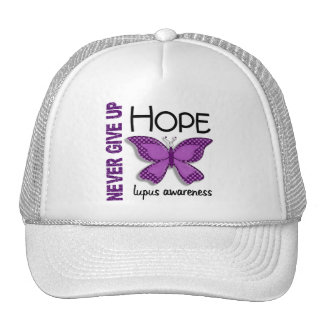 Lupus Never Give Up Hope Butterfly 4.1 Trucker Hat