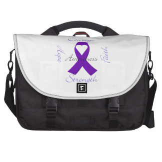 Lupus Pancreatic Thyroid purple ribbon awareness Computer Bag
