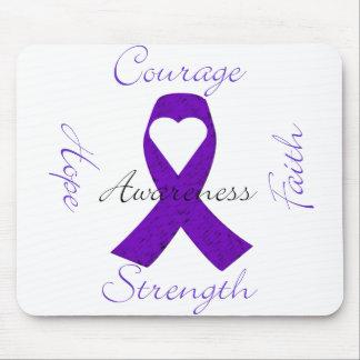 Lupus Pancreatic Thyroid purple ribbon awareness Mouse Pad