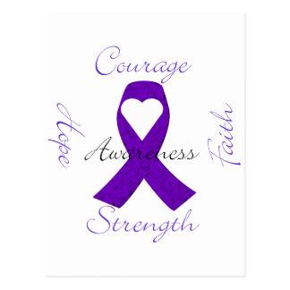 Lupus Pancreatic Thyroid purple ribbon awareness Postcard