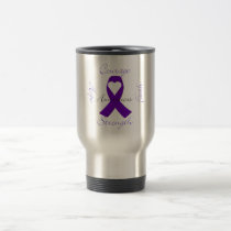 Lupus Pancreatic Thyroid purple ribbon awareness Travel Mug