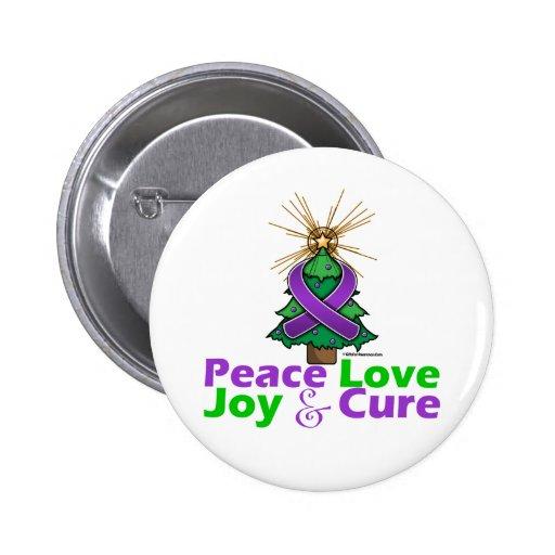 Lupus Peace Love Joy Cure Pinback Buttons