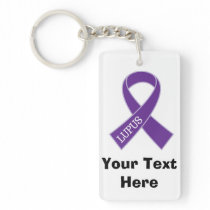 Lupus Personalized Awareness Gift Keychain