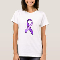 Lupus Purple Awareness Ribbon Shirt