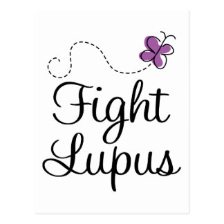 Lupus purple butterfly postcard