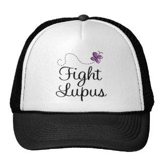 Lupus purple butterfly trucker hat