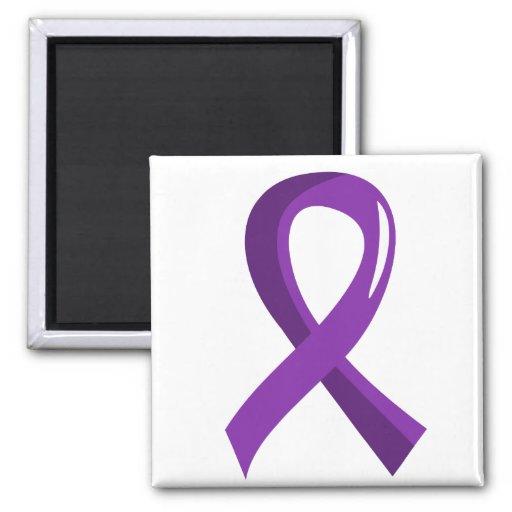 Lupus Purple Ribbon 3 Refrigerator Magnet