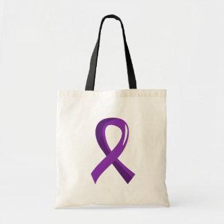 Lupus Purple Ribbon 3 Tote Bags