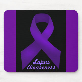Lupus púrpura de la conciencia de la cinta tapete de raton