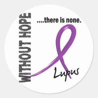 Lupus sin la esperanza 1 pegatinas redondas