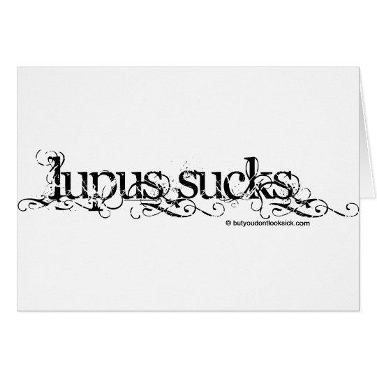 Lupus Sucks Card