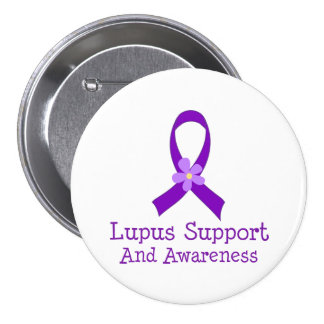 Lupus Support and Awareness Button