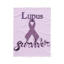 Lupus Survivor Fleece Blanket