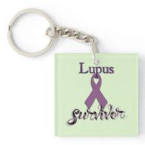 Lupus Survivor Keychain