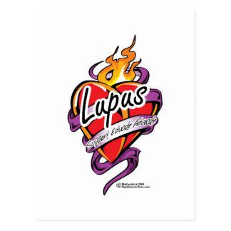 Lupus Tattoo Heart Postcard