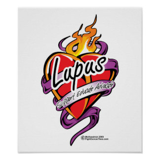 Lupus Tattoo Heart Poster