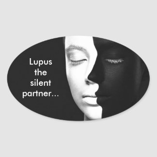 Lupus the silent partner... oval sticker