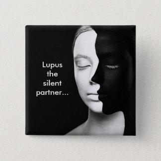 Lupus the silent partner... pinback button