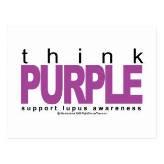 Lupus Think Purple Postcard