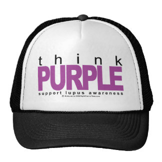 Lupus Think Purple Trucker Hat