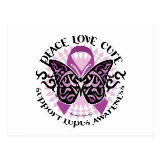 Lupus Tribal Butterfly Postcard