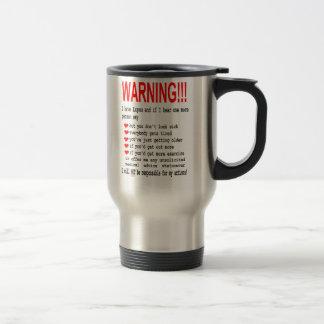 Lupus Warning Travel Mug