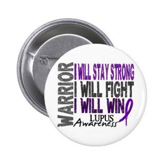 Lupus Warrior 2 Inch Round Button