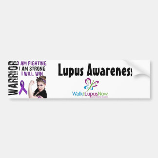 Lupus Warrior Bumper Stickers