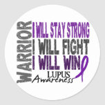 Lupus Warrior Classic Round Sticker