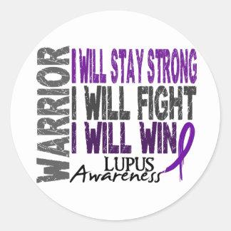 Lupus Warrior Classic Round Sticker