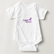 Lupus Warrior Lupus Awareness Purple Ribbon Baby Bodysuit