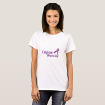 Lupus Warrior Lupus Awareness Purple Ribbon T-Shirt