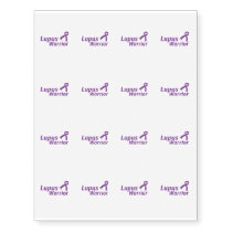 Lupus Warrior Lupus Awareness Purple Ribbon Temporary Tattoos