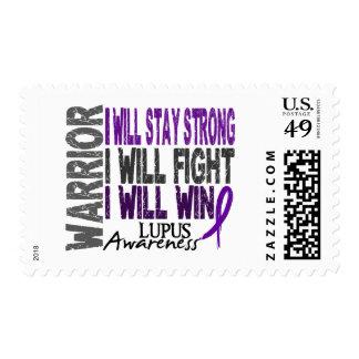 Lupus Warrior Postage Stamp