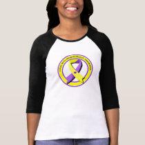 Lupus with Endometriosis Awareness Heart T-Shirt