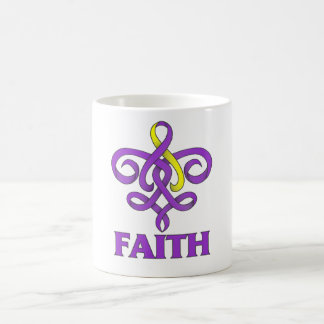 Lupus with Endometriosis Faith Fleur de Lis Ribbon Classic White Coffee Mug